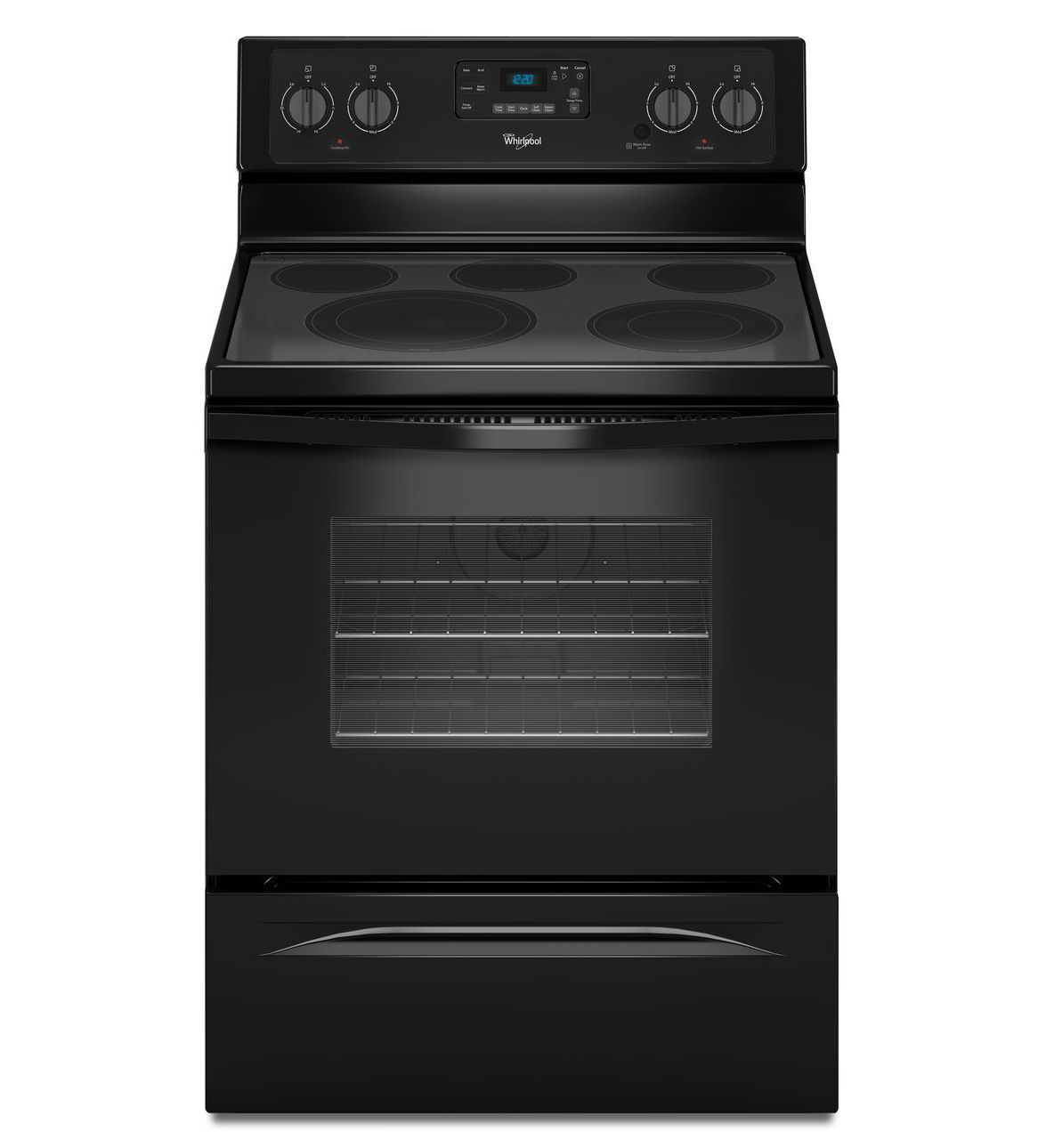 5 3 Cu Ft Freestanding Electric Range With High Heat Self Cleaning System Self Cleaning Ovens Cleaning Glass Cooktop