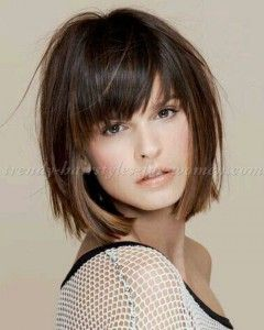 Short Layered Bob Hairstyles with Bangs | Messy Bob | Pinterest ...