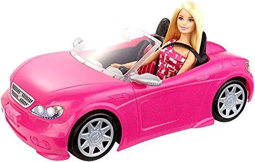 NEW Barbie Glam Convertible Doll Vehicle Pink Two-Seater Pretend Play Car Mattel