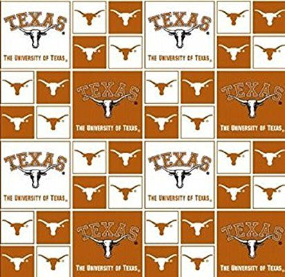 Cotton College University Of Texas Longhorns Print Cotton Fabric By