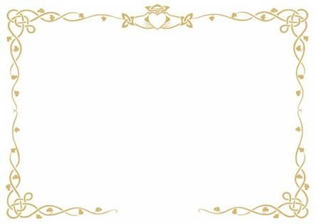 Gold Border Printed Using Hot Foil It Shines Celtic Charm Prices Start At GBP35