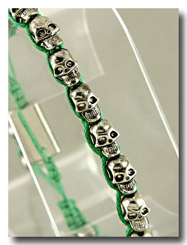 Silver & Green Skullies from P.S. I Love You More Boutique