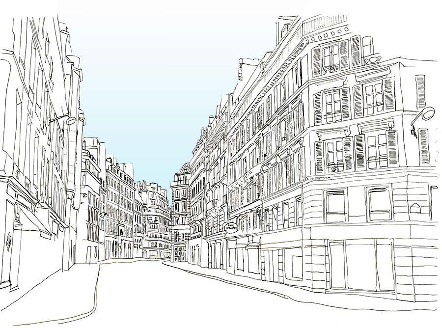 Line Art City : City line drawing linepc