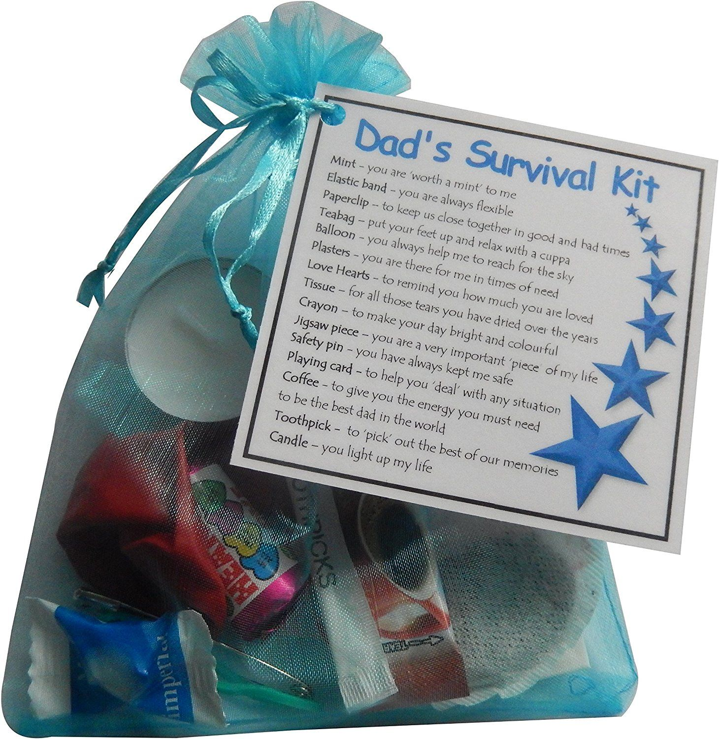 Dads Survival Kit Gift Ideal Dad For Father Fathers