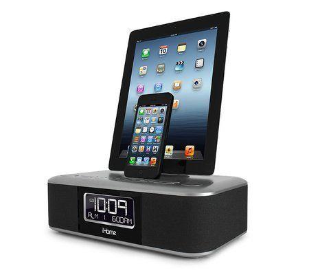 iHome iDL100 Lightning Dock Triple Charging FM Clock Radio
