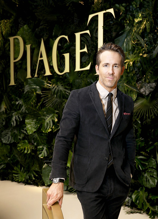 Ryan Reynolds Visits The Piaget Booth During The Sihh2018 On January 15 2018 In Geneva Switzerland Ryan Reynolds Celebrities Gala Events