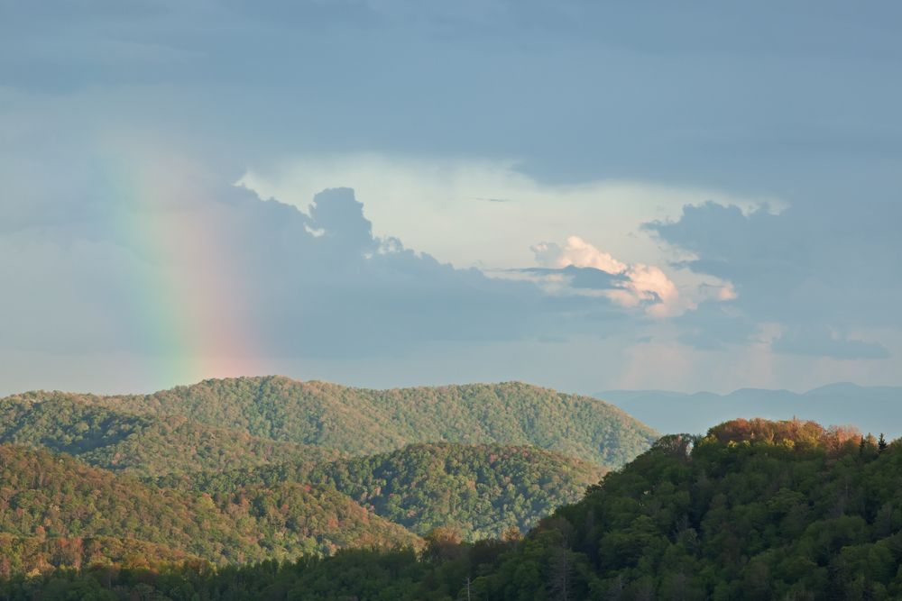 Beauty Is At The Bottom Of This Rainbow Smoky Mountain