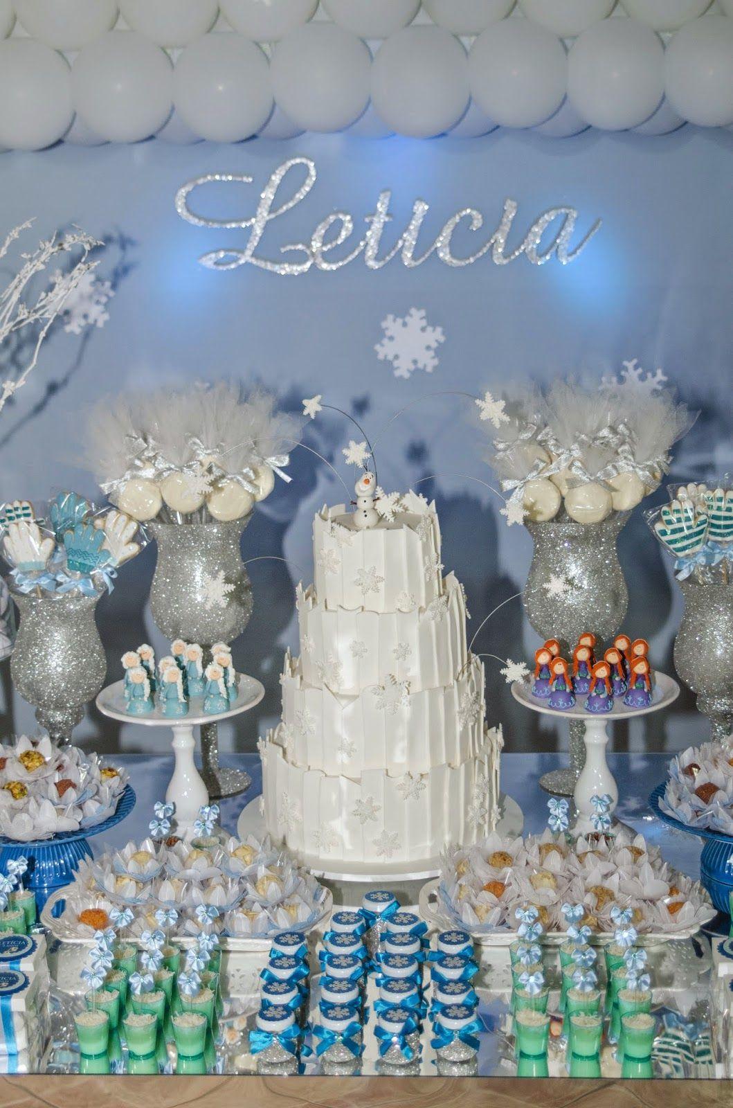 Doce Eve Ateliê   decoração - docinhos - mimos: Frozen para Letícia