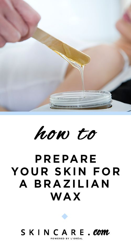Preparing for brazilian wax