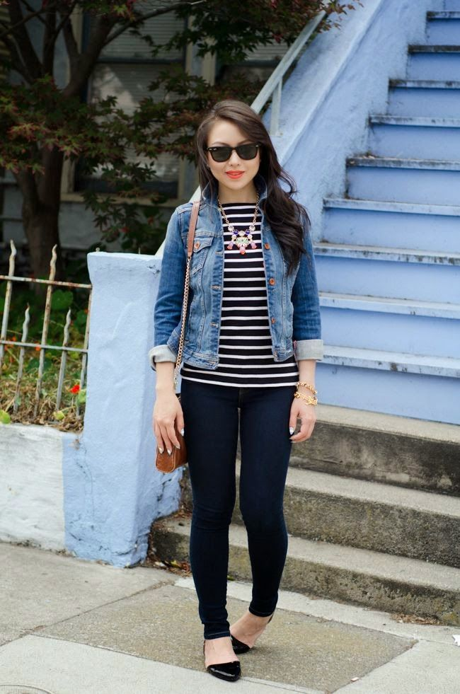 5 trucs pour porter ta veste en jeans / 5 outfits tips to wear jeans jacket