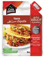 Taco with Chipotle Skillet Sauce