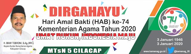 Desain Banner Spanduk HAB Kemenag 2020 cdr (Dengan gambar ...