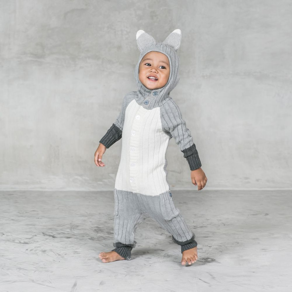 9d6d135e017d6 Baby Fox Suit - Silver | || BABY || | Knitted animals, Fox costume ...
