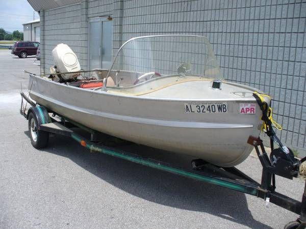 1958 Aluma Craft Vintage Aluminum Boat With 1959 Johnson 35 Hp Outboard Motor Vintage Boats Classic Boats Aluminum Boat