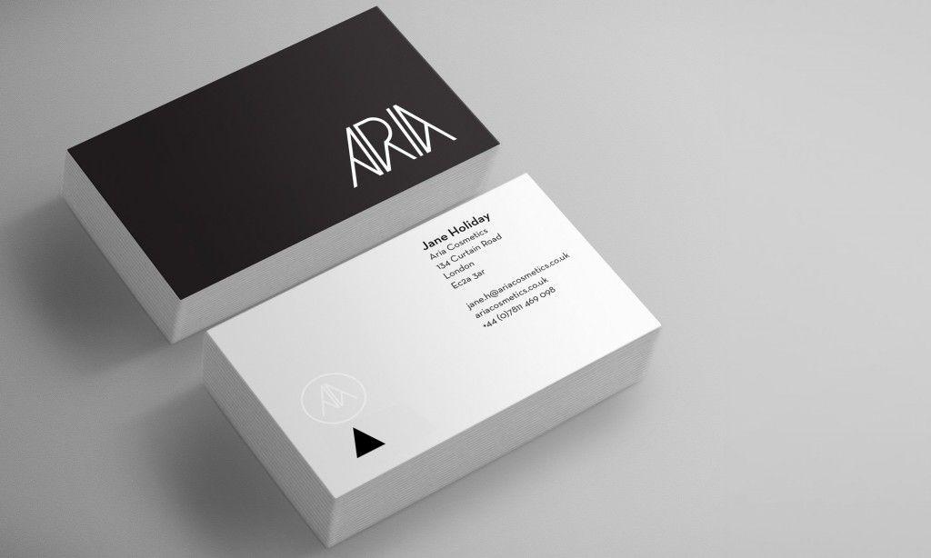 Aria Cosmetics London Business Card Design Inspiration Business Card Inspiration Inspirational Cards