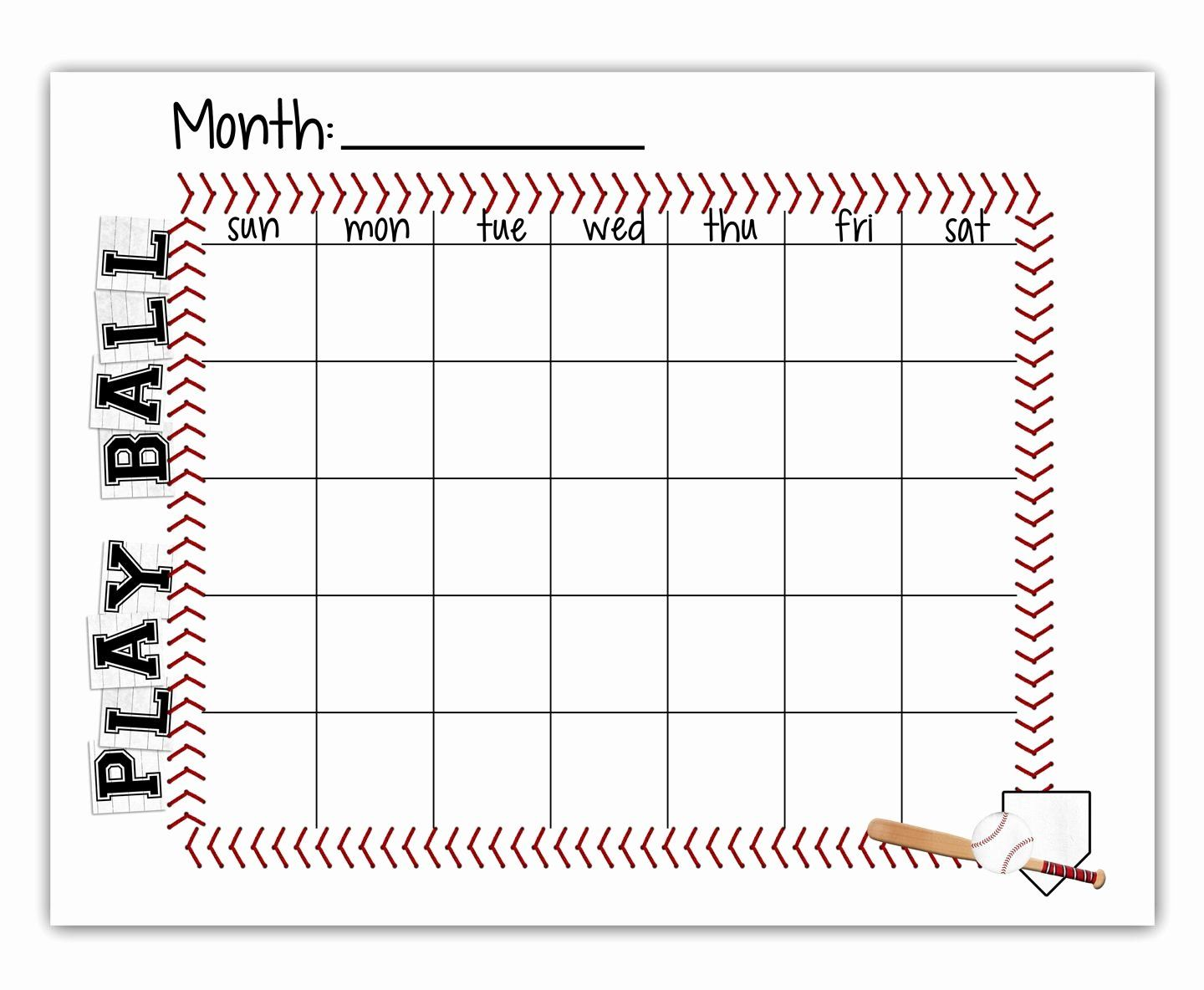 Free Snack Schedule Template Fresh Ball Schedule Free Printable