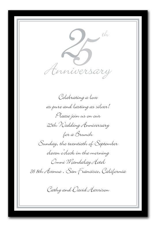 25th anniversary silver by invitation consultants ever after anniversary silver anniversary invitations by invitation consultants stopboris Images