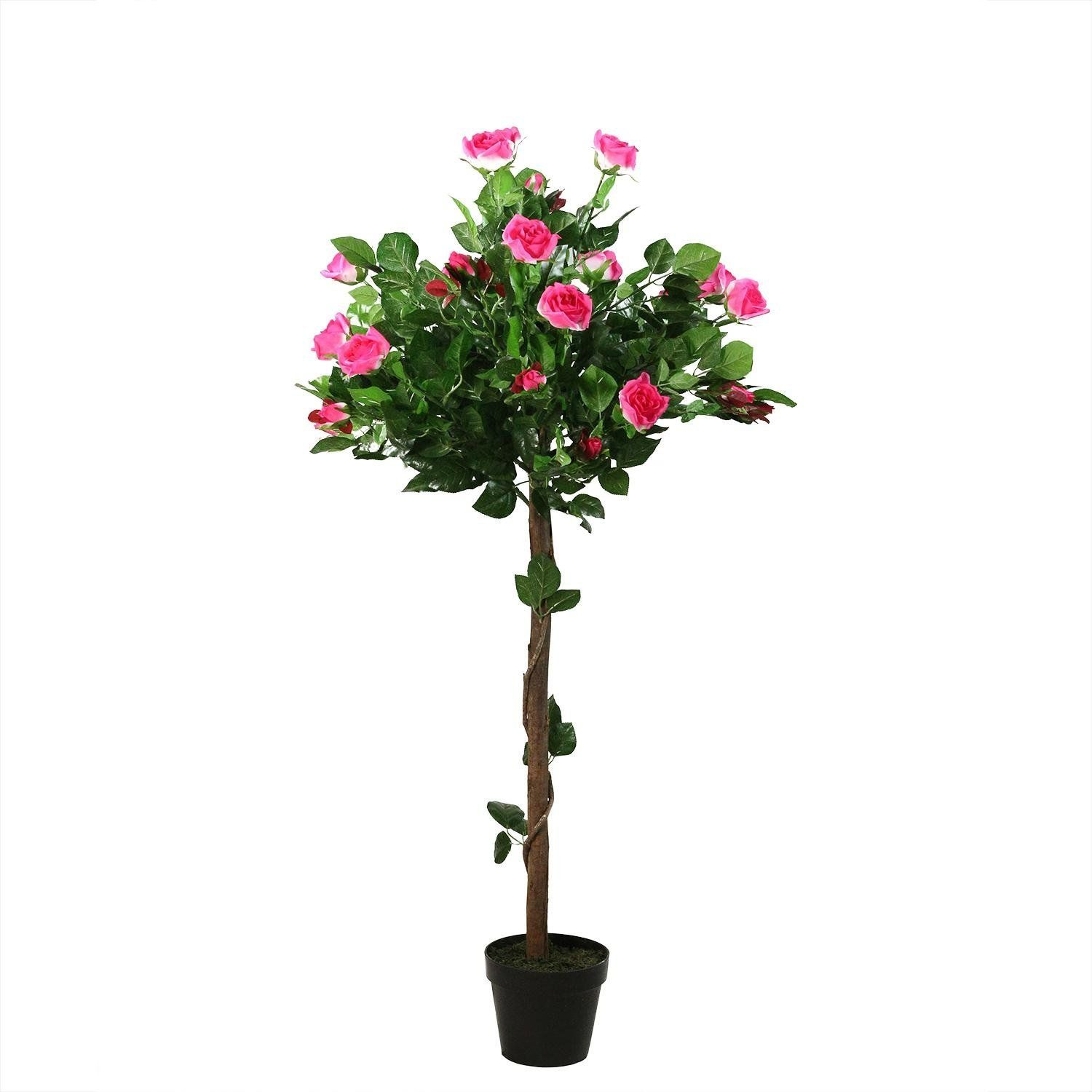 Decorative garden trees  u Decorative Potted Artificial White and Pink Floral Rose Garden