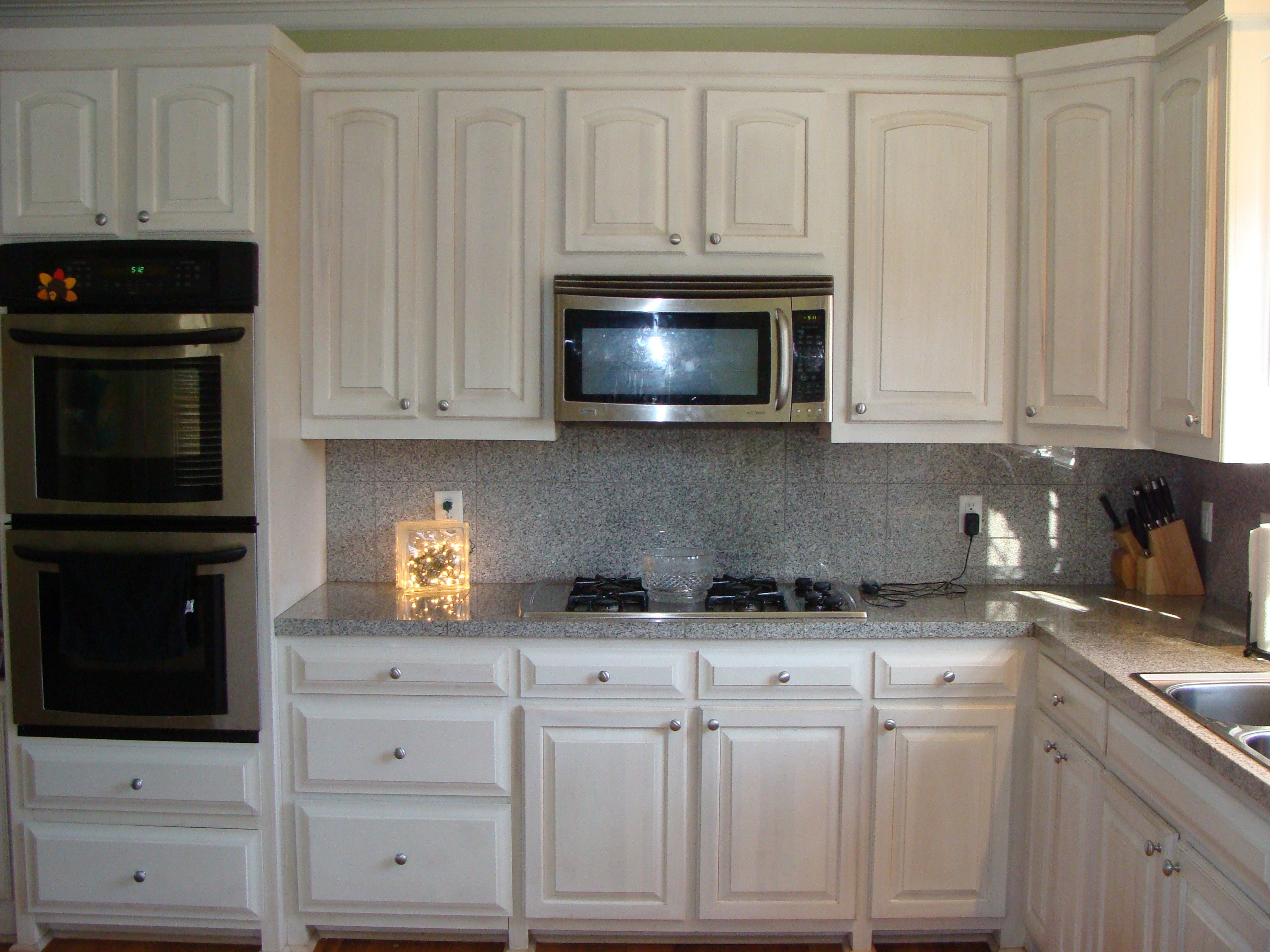 Awesome White Stained Kitchen Cabinets