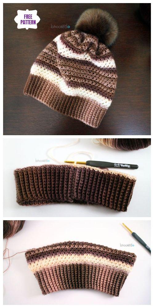 Crochet Woven Stitch Beanie Hat Free Crochet Pattern 32c08d42e7b