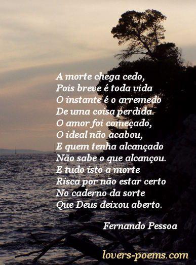 A Morte Chega Cedo Poema De Fernando Pessoa Ideias Poems