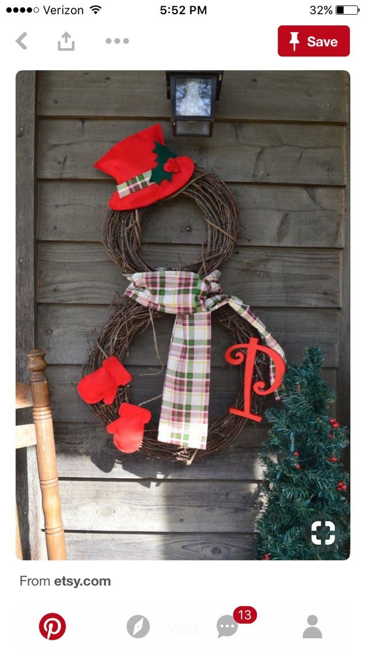 Christmas snowman wreath | Christmas | Pinterest ...