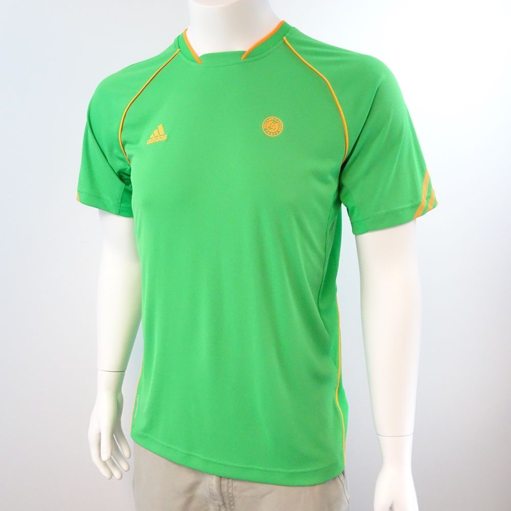 Adidas Climacool Roland Garros Paris Med Tennis T Shirt Athletic Training Green #Adidas #ShirtsTops