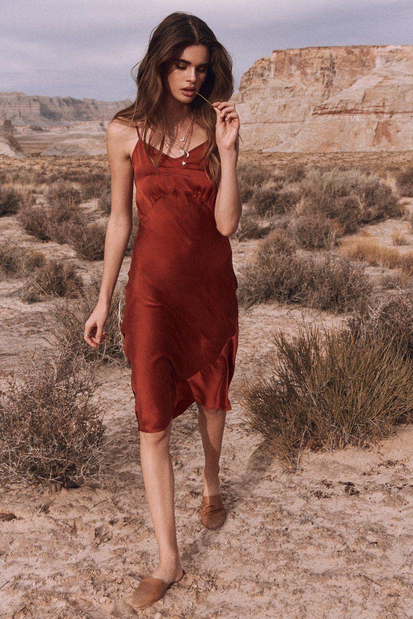 e121b1ea7b9d Zoi Mantzakanis wears Spell Designs Boudoir Silk Slip Dress   slip ...