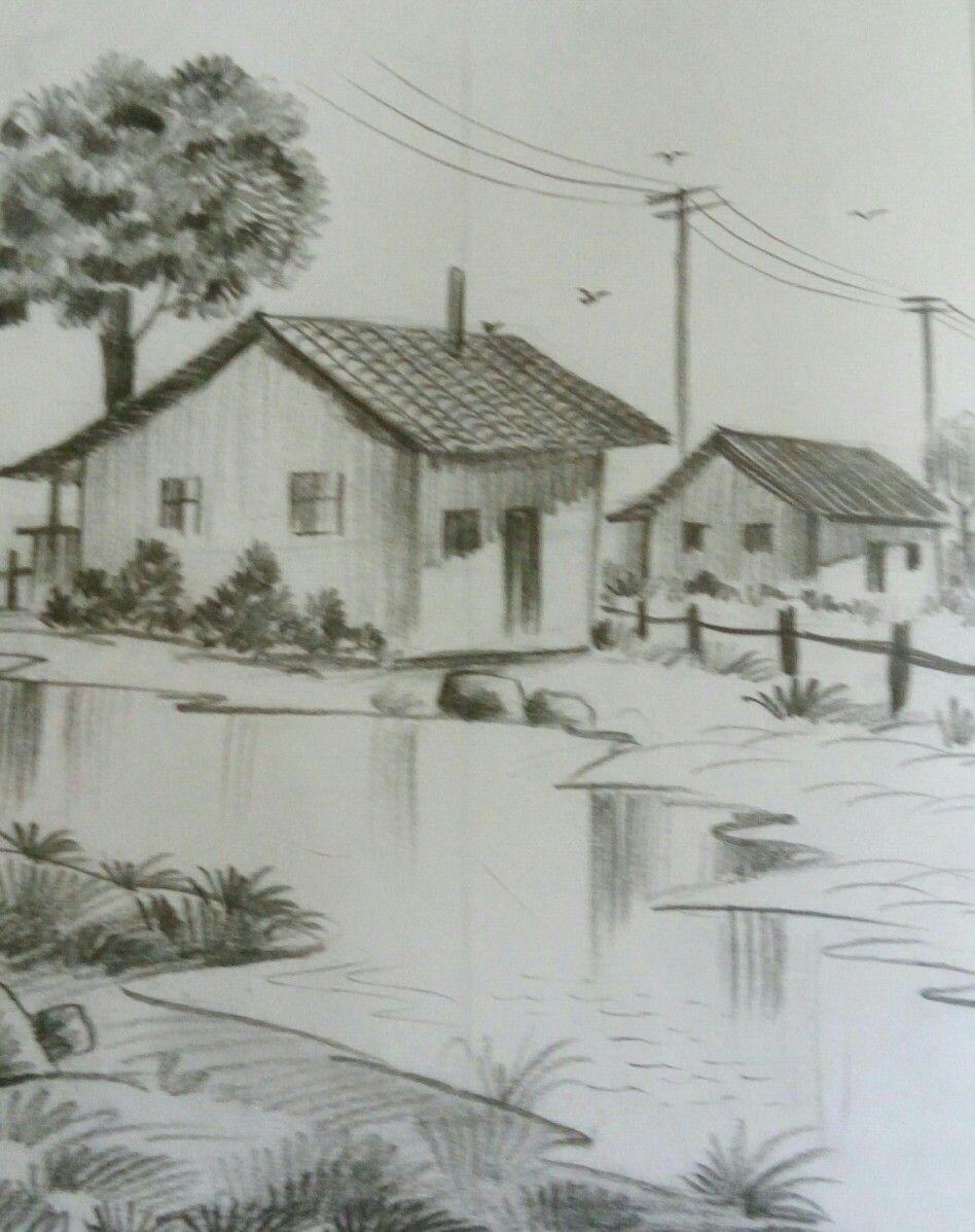 Easy Landscape Drawing Landscape Drawing Easy Landscape Sketch Landscape Drawings