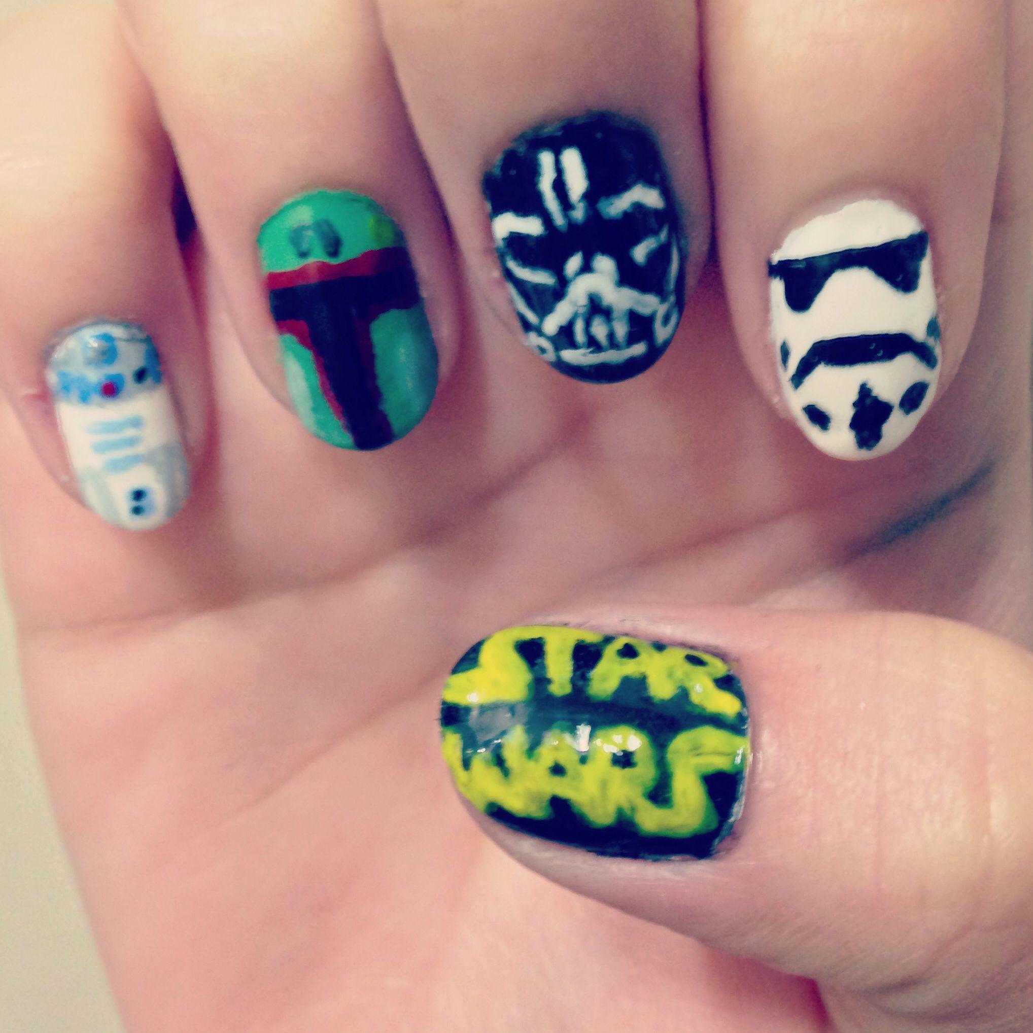 Star Wars nail art May Day 4 | Stuff I\'ve Done | Pinterest | Star ...