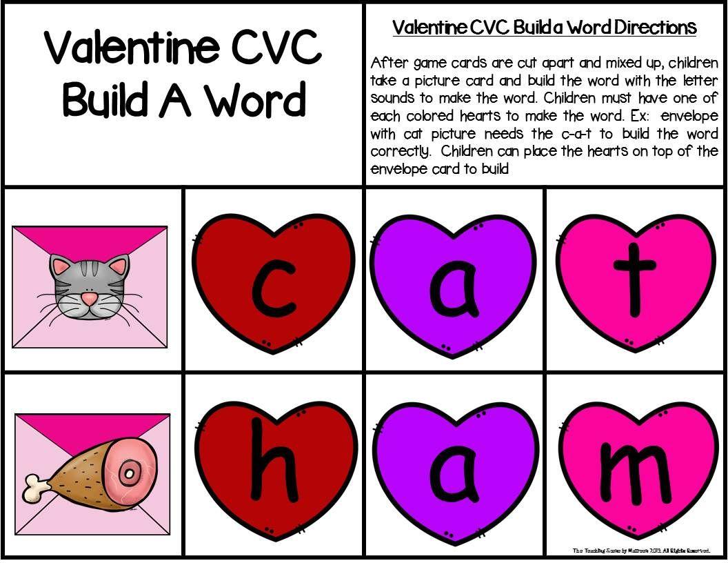 Valentine Build A Cvc Word