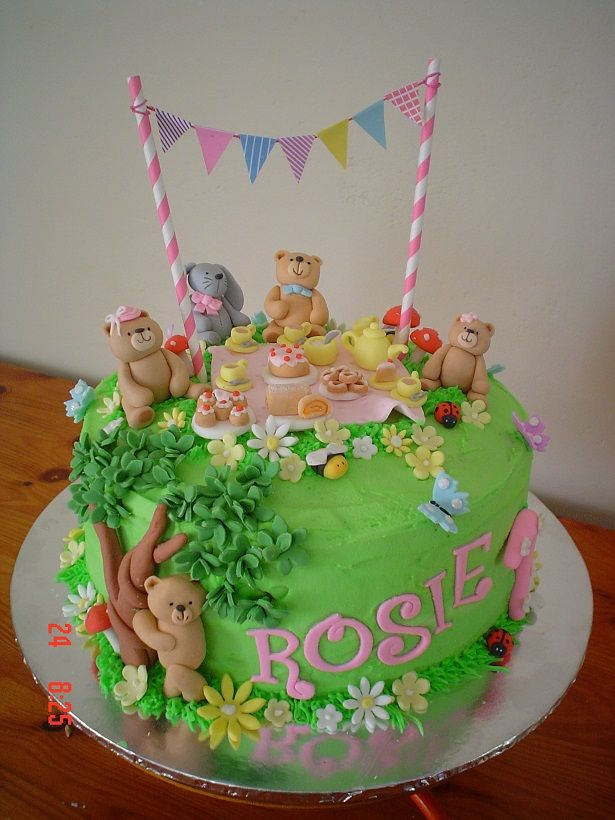 Teddy Bears Picnic Cake Lily Bday Picnic Birthday