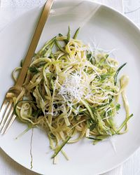 Zucchini Linguine with Herbs.