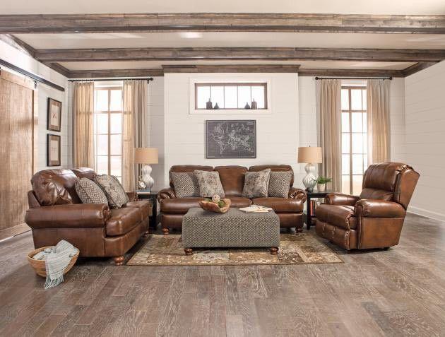 Jackson Furniture Southport 3 Piece Living Room Set In Chestnut 4367 03 02 01