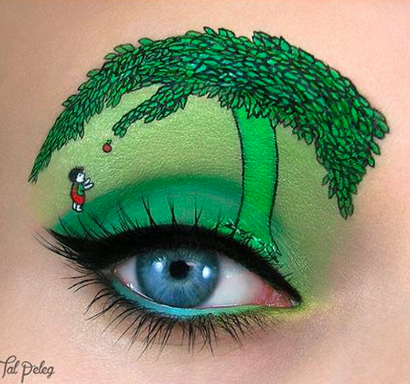 Artist creates stunning pop culture landscapes using only eye makeup