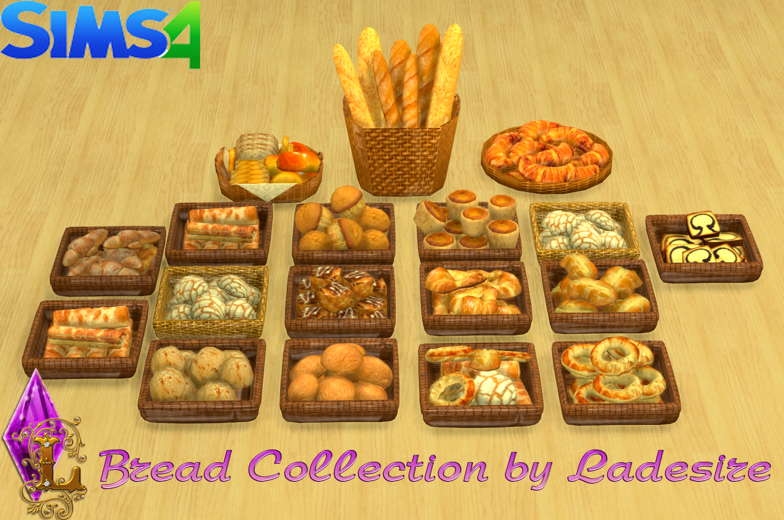 ladesire 39 s creative corner ts4 bread collection by ladesire the sims 4 pinterest m bel. Black Bedroom Furniture Sets. Home Design Ideas