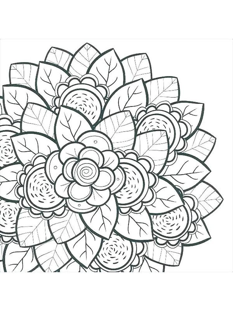 Flower Coloring Pages Preschool