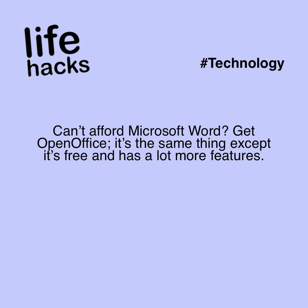 Can't afford Microsoft Word? Get OpenOffice; it's the same
