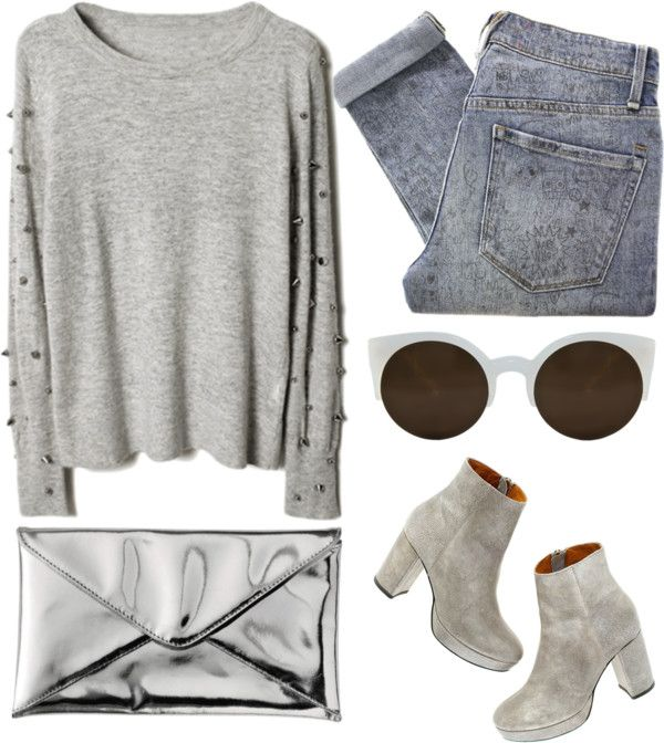"""""""grey"""" by deep-serene ❤ liked on Polyvore"""