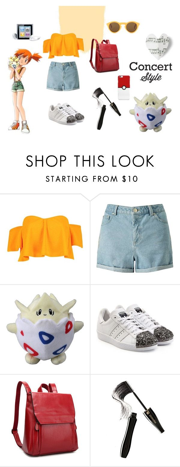 """Concert Style - Misty"" by ilaria15 on Polyvore featuring moda, Boohoo, Miss Selfridge, adidas Originals, Lancôme e CÉLINE"