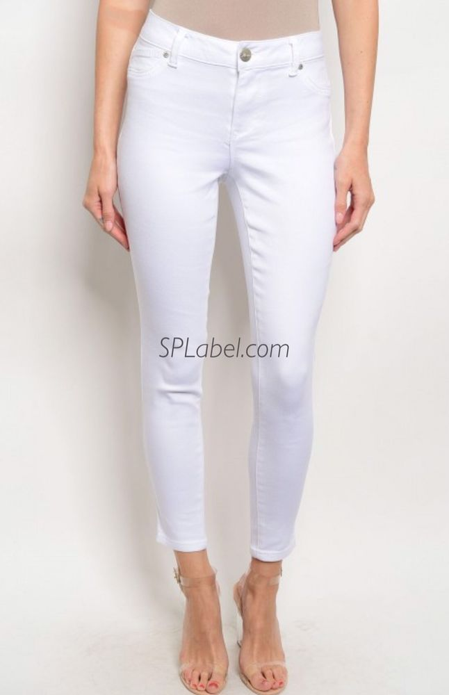 Details about New Women White Skinny Jeans Size 6 | Skinny jeans ...