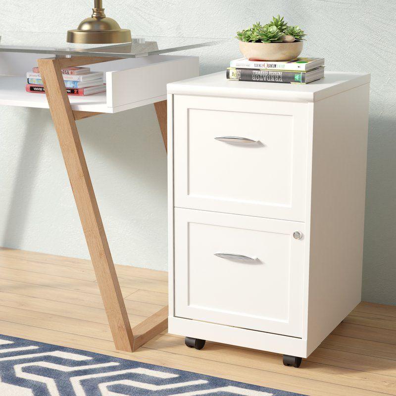 Gigi 2 Drawer Mobile Vertical Filing Cabinet In 2020 Filing Cabinet Mobile Home Decorating Mobile File Cabinet