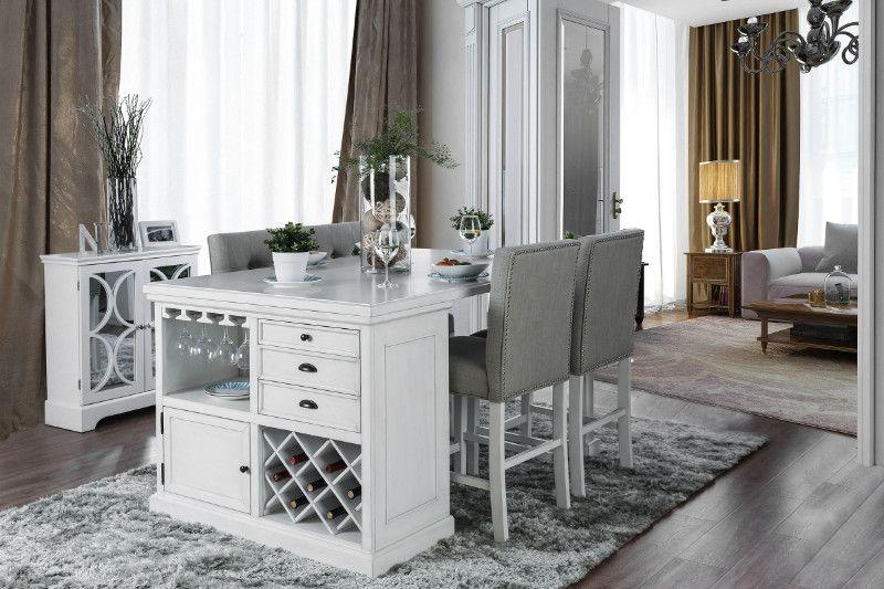 Furniture Of America Alana Kitchen Island Table