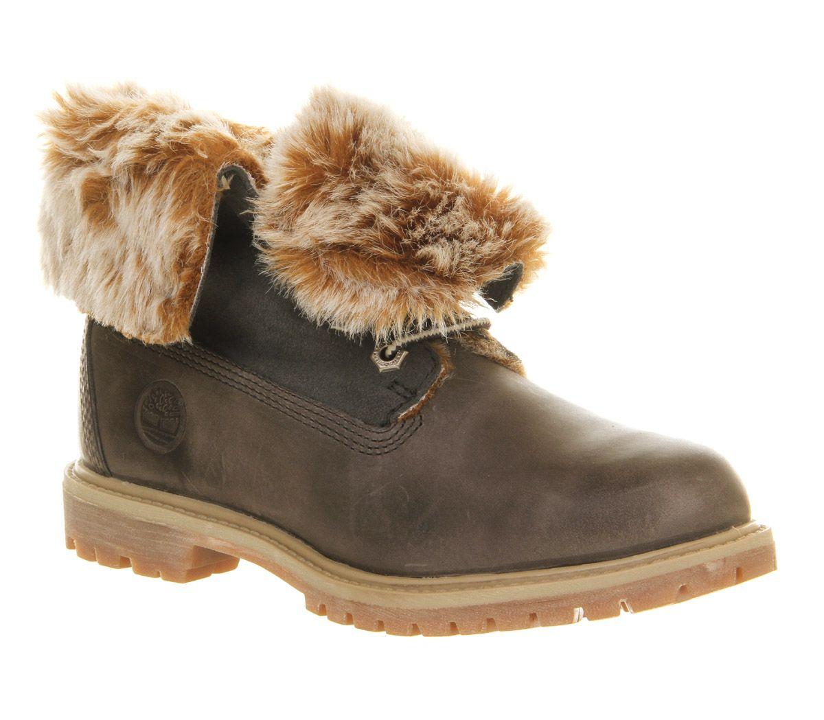 Women's Fold Down Fur Ankle Bootie