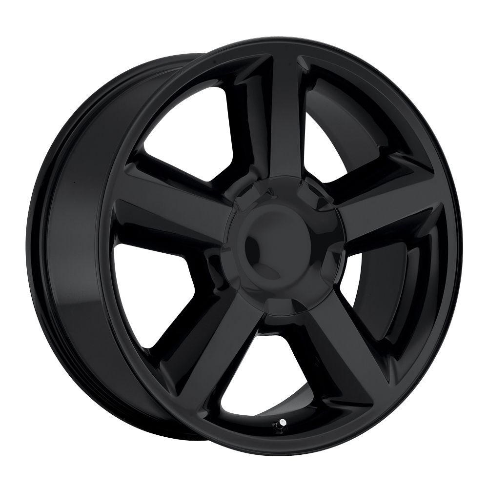 All Chevy black chevy rims : Chevrolet Tahoe 2007-2012 20x8.5 6x5.5 30 - Replica Wheel - Gloss ...
