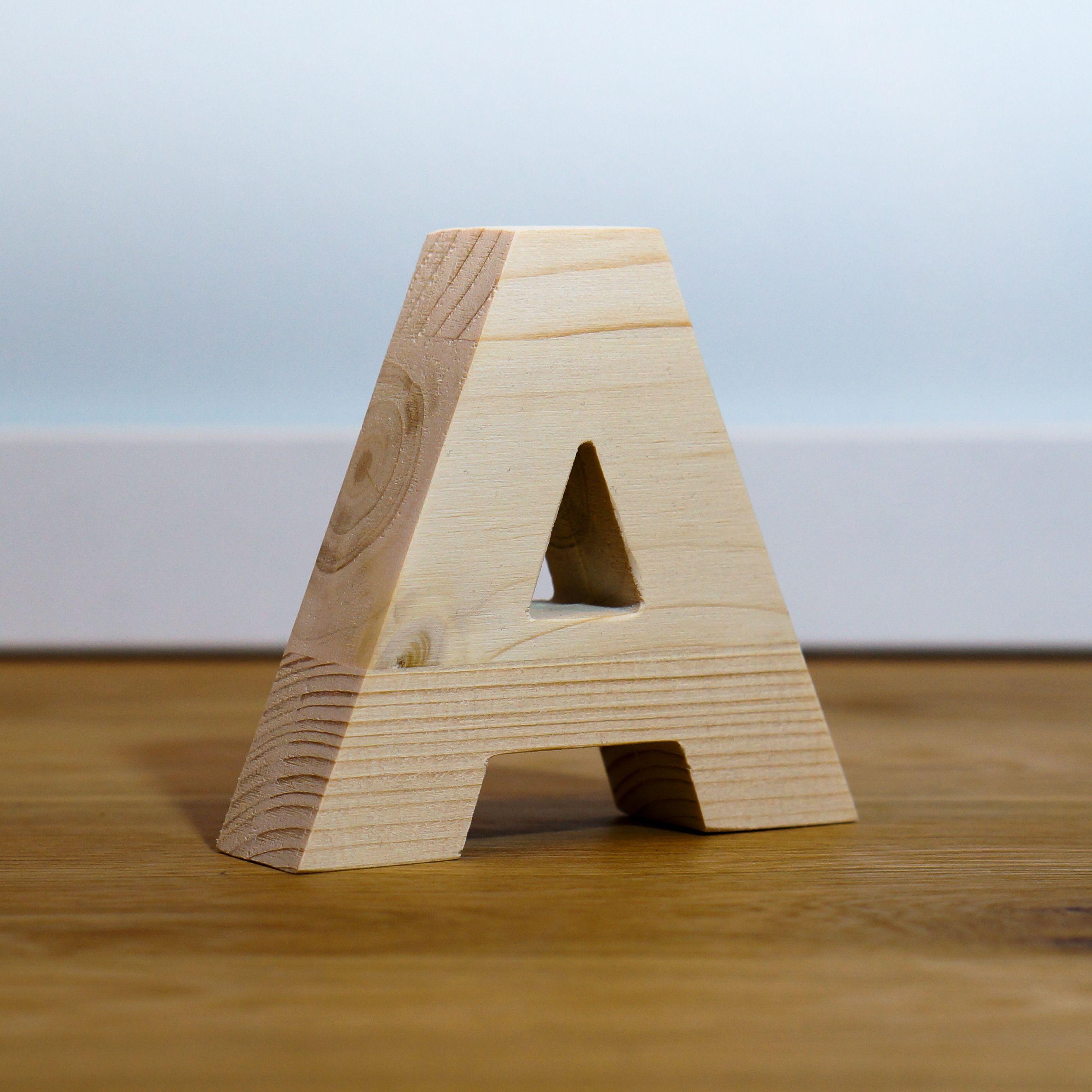Holzbuchstaben Natur Schriftzug Aus Holz Personalisiert Buch