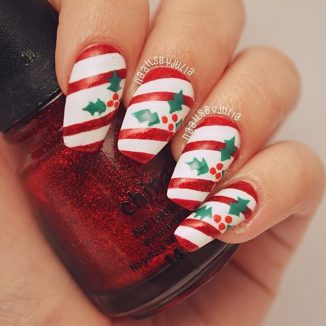 Christmaswinter Themed Nails Nails Pinterest Winter