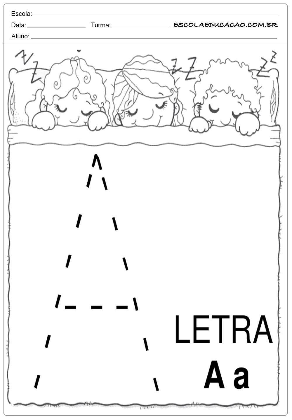 Coordenacao Motora Letra A Atividades De Coordenacao Motora