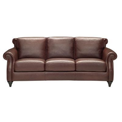 natuzzi editions 91 inch dark brown leather sofa living room rh pinterest com