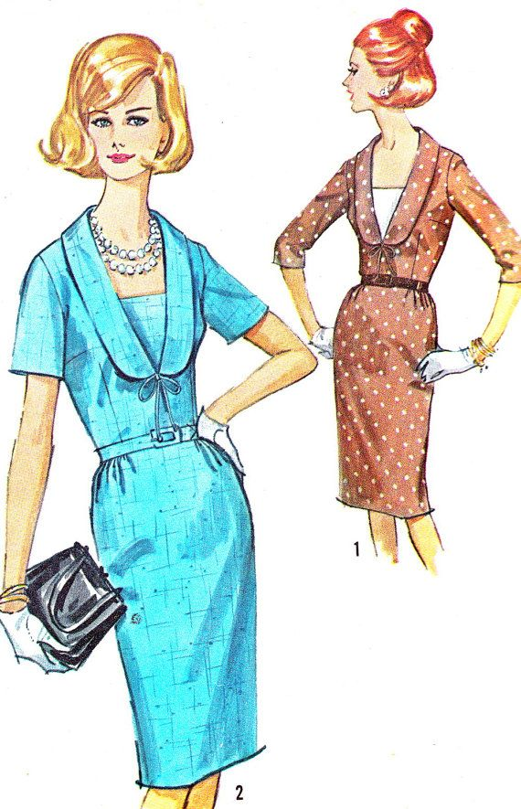 1960s Dress Pattern Simplicity 5790 Day or Evening by paneenjerez, $10.00